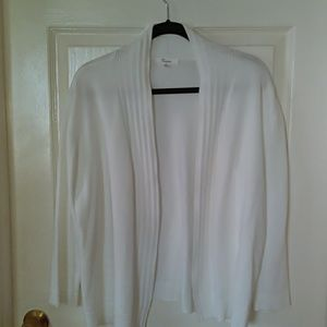 89th +Madison white open front cardigan
